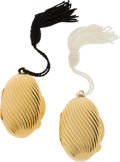 Luxury Accessories:Accessories, Set of Two: Judith Leiber Gold-tone Pillboxes. ...