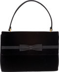 Luxury Accessories:Bags, Gucci 1970's Black Satin & Velvet Evening Bag. ...