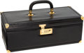 Luxury Accessories:Travel/Trunks, Gucci Black Leather & Lizard Train Case. ...