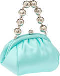 Luxury Accessories:Bags, Tiffany & Co Signature Blue Satin Evening Bag. ...