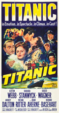 "Movie Posters:Drama, Titanic (20th Century Fox, 1953). Three Sheet (41"" X 81"").. ..."