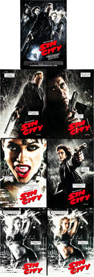 """Sin City (Dimension, 2005). One Sheets (7) (27"""" X 40"""") DS Advance. ... (Total: 7 Items)"""