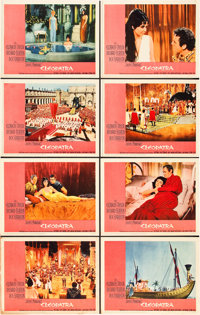"Cleopatra (20th Century Fox, 1963). Lobby Card Set of 8 (11"" X 14""). ... (Total: 8 Items)"