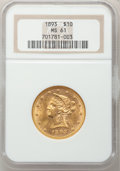 Liberty Eagles: , 1893 $10 MS61 NGC. NGC Census: (10057/18726). PCGS Population(5229/8888). Mintage: 1,840,895. Numismedia Wsl. Price for pr...
