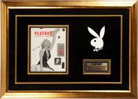Playboy #1 Signed by Hugh Hefner Framed Display (1953)