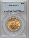 Indian Eagles: , 1913 $10 MS62+ PCGS. PCGS Population (1479/1008). NGC Census:(1647/1102). Mintage: 442,071. Numismedia Wsl. Price for prob...