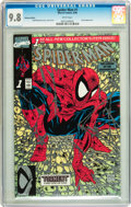 Modern Age (1980-Present):Superhero, Spider-Man (1990 series) #1 Platinum Edition (Marvel, 1990) CGCNM/MT 9.8 White pages....