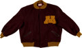 Football Collectibles:Uniforms, 1970's University of Minnesota Gophers Letterman's Style Jacket....