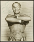 Boxing Collectibles:Autographs, Henry Armstrong Signed Original Photograph....