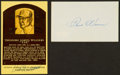 Baseball Collectibles:Others, Ted Williams and Paul Waner Signed Memorabilia Lot of 2....