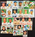 Autographs:Sports Cards, Mid Century Baseball Greats Signed Card Lot Of 28....
