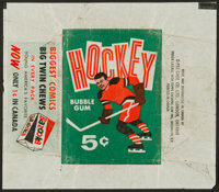 Vintage Bowman Baseball and Topps Hockey Wax Pack Wrappers Pair (2)