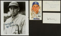 Baseball Collectibles:Others, Baseball Greats Signed Memorabilia Lot of 4....