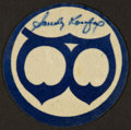 Baseball Collectibles:Others, Sandy Koufax Signed Brooklyn Dodgers Patch....