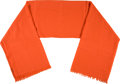 Luxury Accessories:Accessories, Hermes Salmon Cashmere Shawl. ...