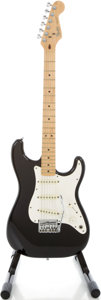 Musical Instruments:Electric Guitars, 1983 Fender Stratocaster USA Black Solid Body Electric Guitar, Serial # E346438....