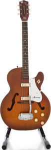 Musical Instruments:Electric Guitars, 1960's Harmony Rocket Redburst Semi-Hollow Body Electric Guitar...