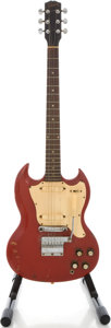 Musical Instruments:Electric Guitars, Circa 1966 Gibson Melody Maker D Cardinal Red Solid Body Electric Guitar...