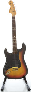 Musical Instruments:Electric Guitars, 1977 Fender Stratocaster USA Lefty Sunburst Solid Body Electric Guitar, Serial # S766624....