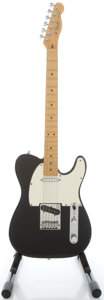 Musical Instruments:Electric Guitars, 1988 Fender Telecaster Black Solid Body Electric Guitar, Serial #E804076....