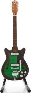 Musical Instruments:Electric Guitars, 1960's Teisco Del Rey EP-8T Greenburst Solid Body Electric Guitar, Serial # 381315....