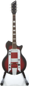 Musical Instruments:Electric Guitars, 1961 Airline Supro Redburst Solid Body Electric Guitar, Serial #T74504....