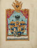 Autographs:Non-American, Maria Theresa Grant of Arms Signed as Empress of the Holy RomanEmpire....