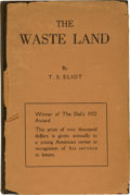Books:Literature 1900-up, T. S. Eliot. The Waste Land. New York: Boni and Liveright,1922. First edition, limited to 1,000 copies, of whic...