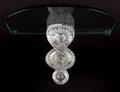 Art Glass:Lalique, LALIQUE CRYSTAL, GLASS AND METAL SEVILLE BRACKET SHELF .10-1/2 inches high (26.7 cm). ...