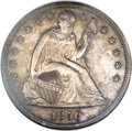 Proof Seated Dollars, 1850 $1 PR63 NGC. CAC....