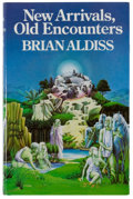 Books:Science Fiction & Fantasy, [Jerry Weist]. Brian Aldiss. SIGNED. New Arrivals, Old Encounters. London: Jonathan Cape, [1979]. First edition, fir...