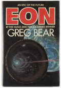 Books:Science Fiction & Fantasy, [Jerry Weist]. Greg Bear. SIGNED. Eon. [New York]: Bluejay Books, [1985]. First edition, first printing. Signed by...