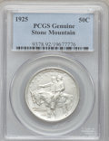 1925 50C Stone Mountain -- Cleaning -- Genuine PCGS. This PCGS number ending in 92 suggest Cleaning as the reason, or pe...