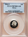 Proof Roosevelt Dimes, 2004-S 10C Silver PR70 Deep Cameo PCGS. PCGS Population (366). NGCCensus: (0). Numismedia Wsl. Price for problem free NGC...
