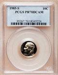 Proof Roosevelt Dimes: , 1985-S 10C PR70 Deep Cameo PCGS. PCGS Population (113). NGC Census:(62). Numismedia Wsl. Price for problem free NGC/PCGS ...