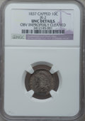 Bust Dimes, 1837 10C -- Obverse Improperly Cleaned -- NGC Details. Unc. JR-2.NGC Census: (1/82). PCGS Population (3/47). Mintage: 359,...
