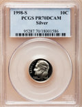 Proof Roosevelt Dimes: , 1998-S 10C Silver PR70 Deep Cameo PCGS. PCGS Population (141). NGCCensus: (306). Numismedia Wsl. Price for problem free N...