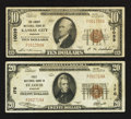 National Bank Notes:Missouri, Interstate 70 - Saint Louis and Kansas City, Missouri Series 1929Nationals.. ... (Total: 2 notes)