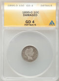 Barber Dimes, 1895-O 10C -- Damaged -- ANACS. Good 4 Details. NGC Census:(30/133). PCGS Population (49/298). Mintage: 440,000. Numismedi...