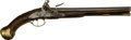 Handguns:Muzzle loading, 1744 Dated British Flintlock Sea Service Pistol with Belt Hook. ...