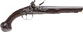 Handguns:Muzzle loading, Iron Mounted British Flintlock Holster Pistol C. 1725....