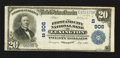 National Bank Notes:Kentucky, Lexington, KY - $20 1902 Plain Back Fr. 656 The First & City NBCh. # (S)906. ...