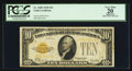 Small Size:Gold Certificates, Fr. 2400 $10 1928 Gold Certificate. PCGS Apparent Very Fine 20.. ...
