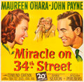 "Movie Posters:Comedy, Miracle on 34th Street (20th Century Fox, 1947). Six Sheet (81"" X 81"").. ..."