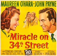 "Miracle on 34th Street (20th Century Fox, 1947). Six Sheet (81"" X 81"")"