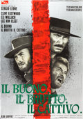"Movie Posters:Western, The Good, the Bad and the Ugly (PEA, 1966). Italian 2 - Foglio (38"" X 53.5"").. ..."