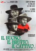 "Movie Posters:Western, The Good, the Bad and the Ugly (PEA, 1966). Italian 4 - Foglio (54.5"" X 77"").. ..."