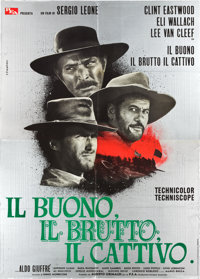 "The Good, the Bad and the Ugly (PEA, 1966). Italian 4 - Foglio (54. 5"" X 77"")"