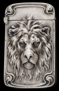 Silver Smalls, AN UNGER BROTHERS SILVER MATCH SAFE . Unger Bros., Newark, NewJersey, circa 1900. Marks: STERLING. 2-3/8 inches high (6...