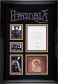 Music Memorabilia:Autographs and Signed Items, Jimi Hendrix Signed Studio Equipment Receipt....